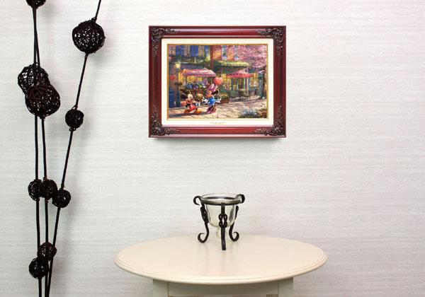 トーマス・キンケード「ミッキー&ミニー/スウィートハート・カフェ」