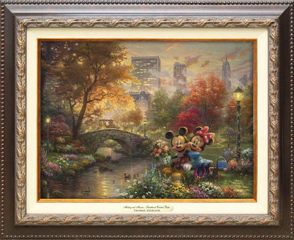 トーマス・キンケード「ミッキー&ミニー/スウィートハート・セントラルパーク」