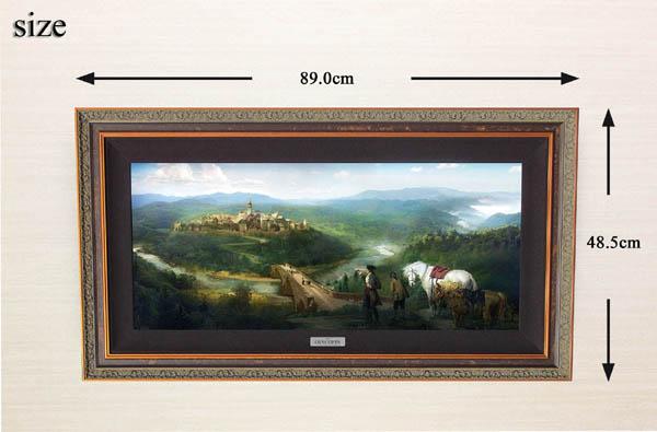 ディズニー・コンセプトアート「美女と野獣/ガストンとルフォーの到着」