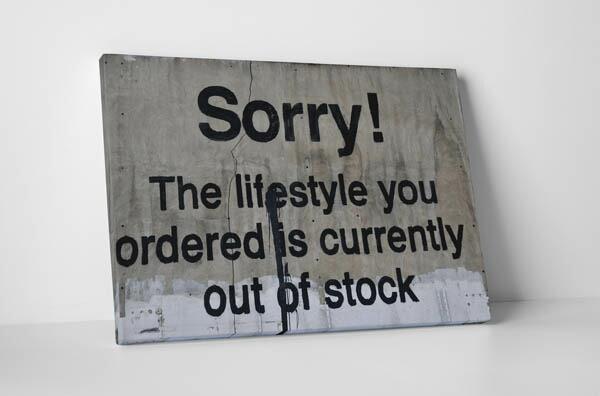 バンクシー「現在売り切れ中/Sorry!_Lifestyle_Ordered_is_Out_of_Stock」