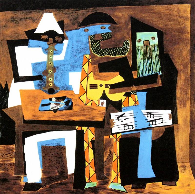 パブロ・ピカソ「三人の音楽家」