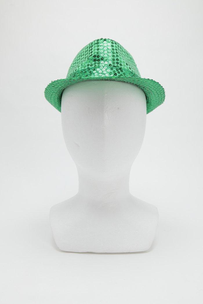 スパンコールハット グリーンの画像0