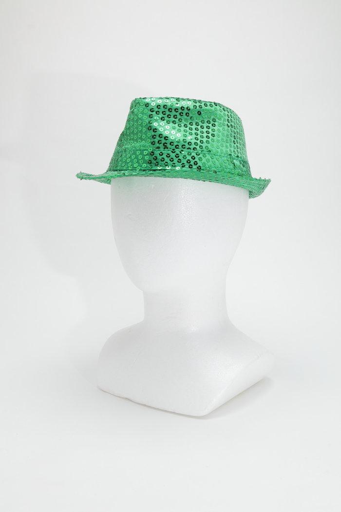 スパンコールハット グリーンの画像1
