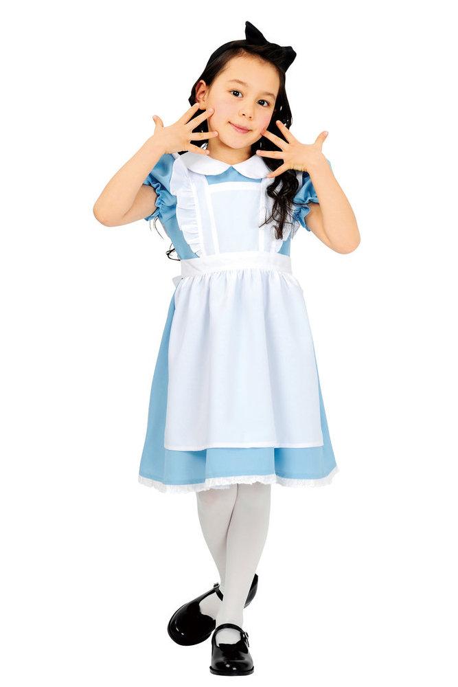 AQUAドレス 120 キッズ 子供用 女の子用 ハロウィン 仮装 衣装 コスチューム 不思議の国のアリス