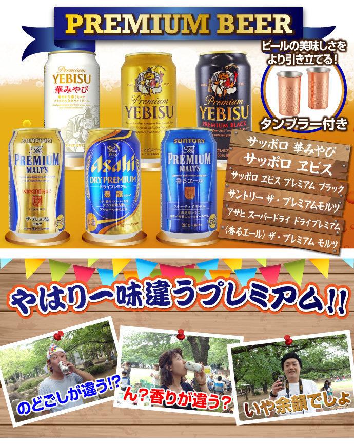プレミアムビール飲みくらべ6本セット[目録・A4パネル付]の画像1