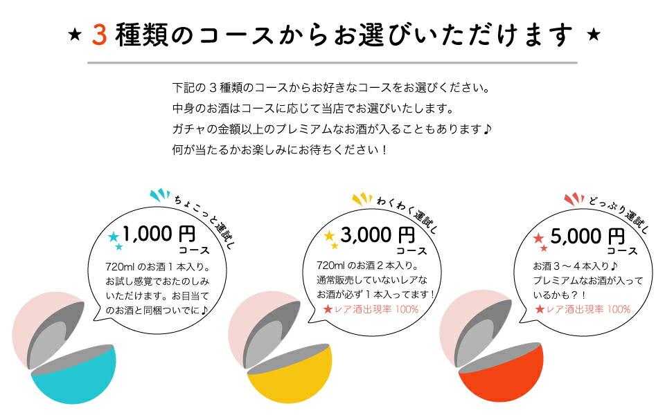 日本酒の日ガチャは3種類