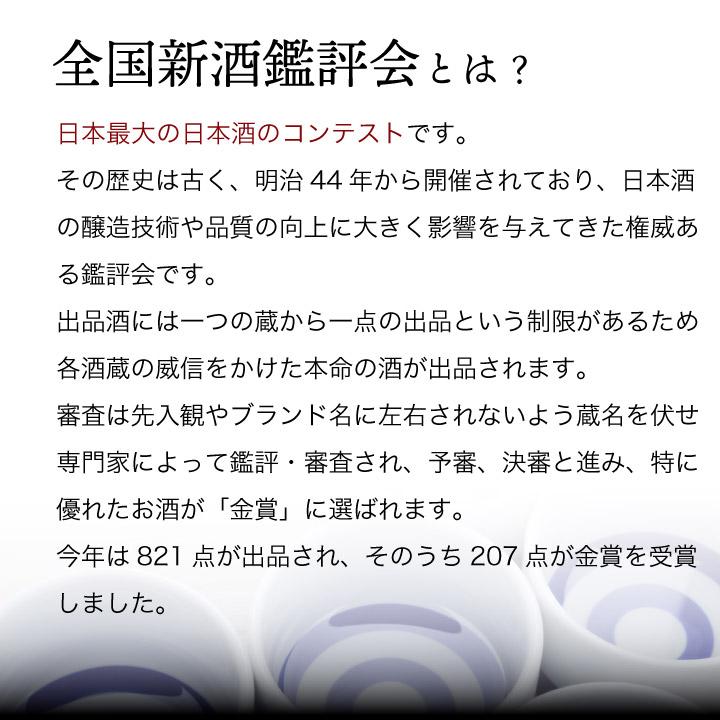 全国新酒鑑評会とは、国内最大の日本酒のコンテストです