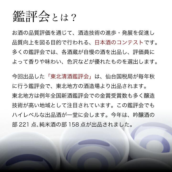 鑑評会とは、日本酒のコンテストです。