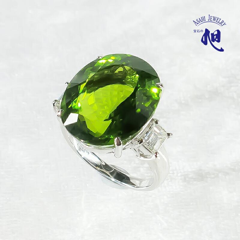 ペリドット ダイヤモンド リング