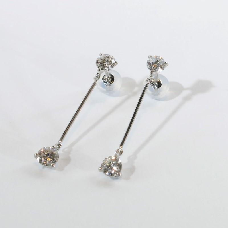 ダイヤモンド ピアス プラチナ 1.06ct 白金 イヤリング