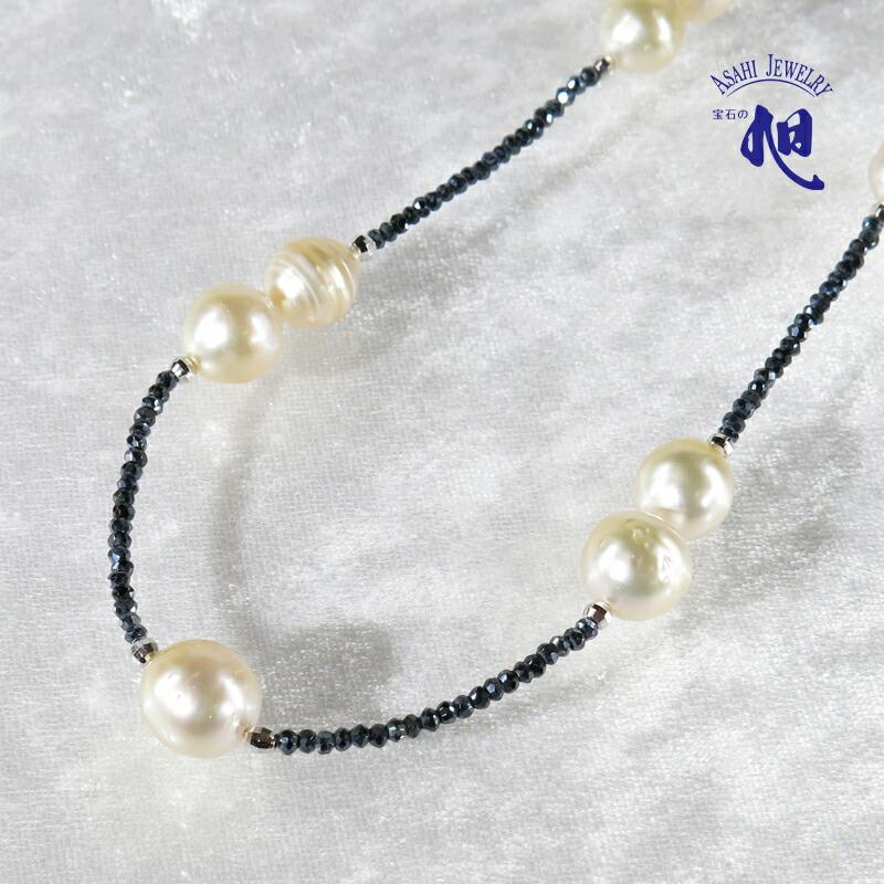 グレースピネル 白蝶真珠 ネックレス