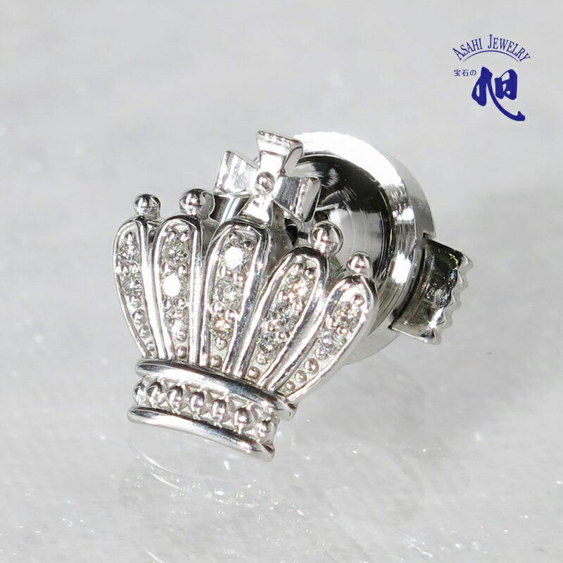 ダイヤモンド 王冠 ピンブローチ
