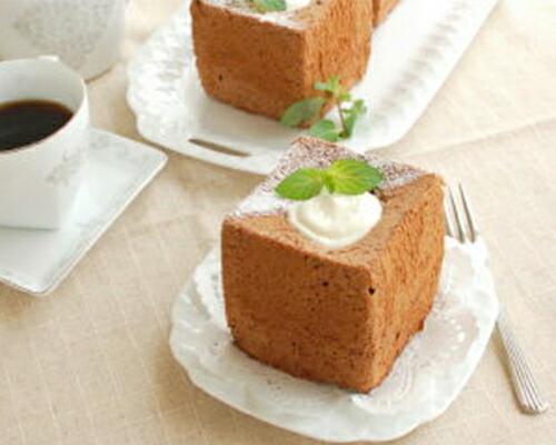 チョコミントシフォンケーキ