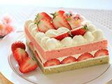 ほんのり桜風味♪ ひな祭りショートケーキ