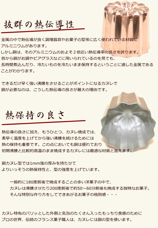 銅カヌレ型