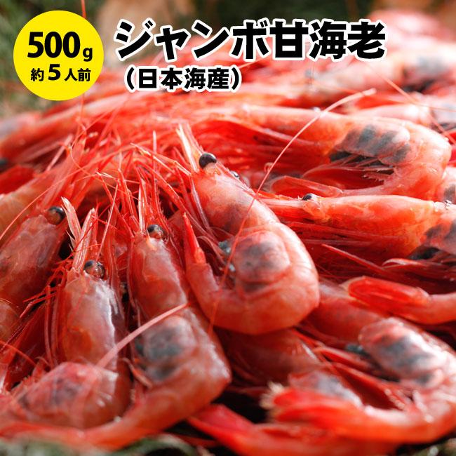 日本海産ジャンボ甘えび500g前後