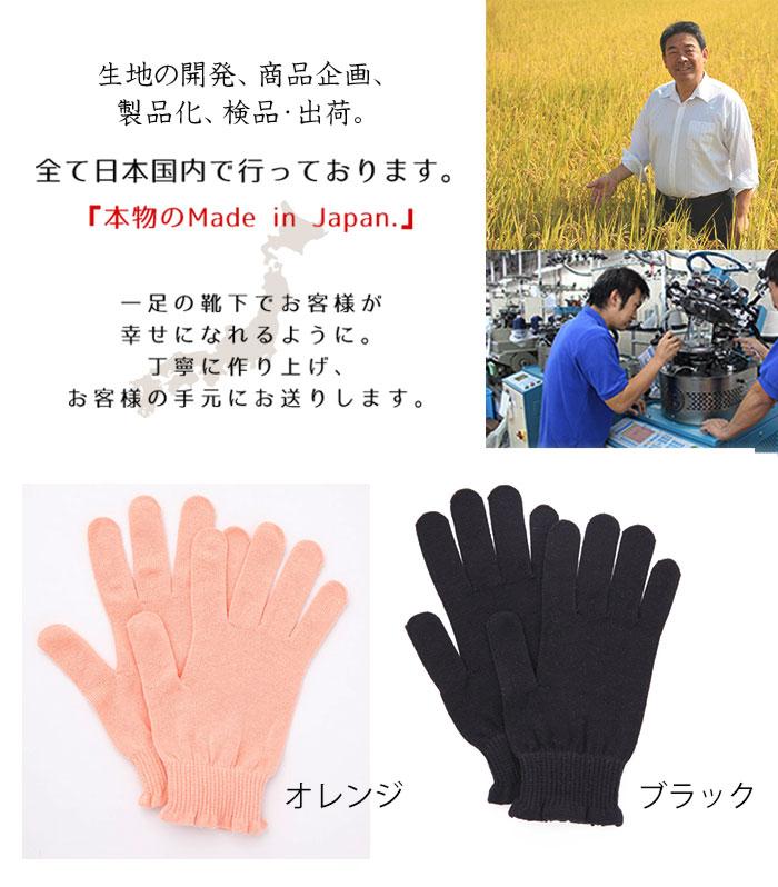 日本製のおやすみ手袋です。