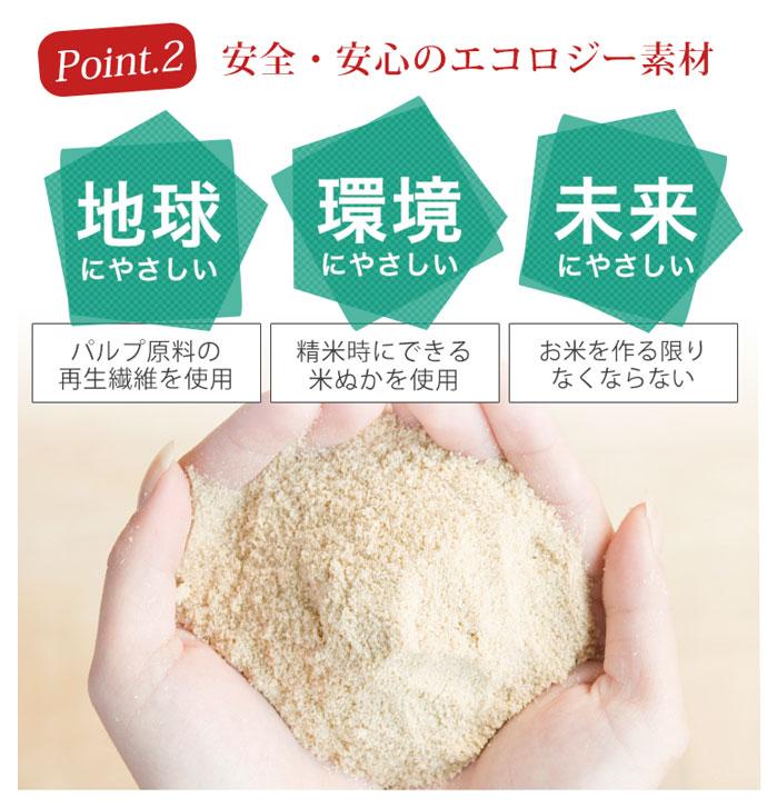 ポイント2、米ぬかは、地球、環境、未来にやさしい。