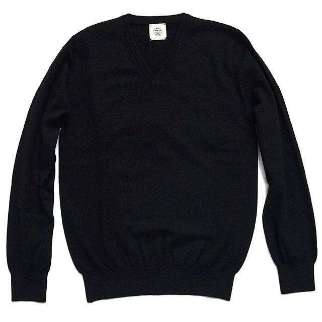 プルオーバー Vネック 【カシミヤ100%】 BLACK