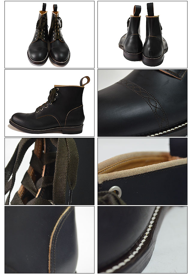 CHAIN RACE UP BOOTS BLACK
