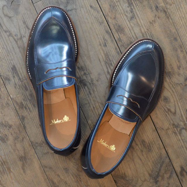 V TIP LOAFER NAVY