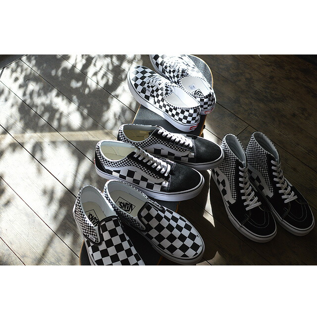 CLASSIC SLIP-ON(Mix Checker) Lifestyle Black/TRUE WHITE VN0A38F7Q9B