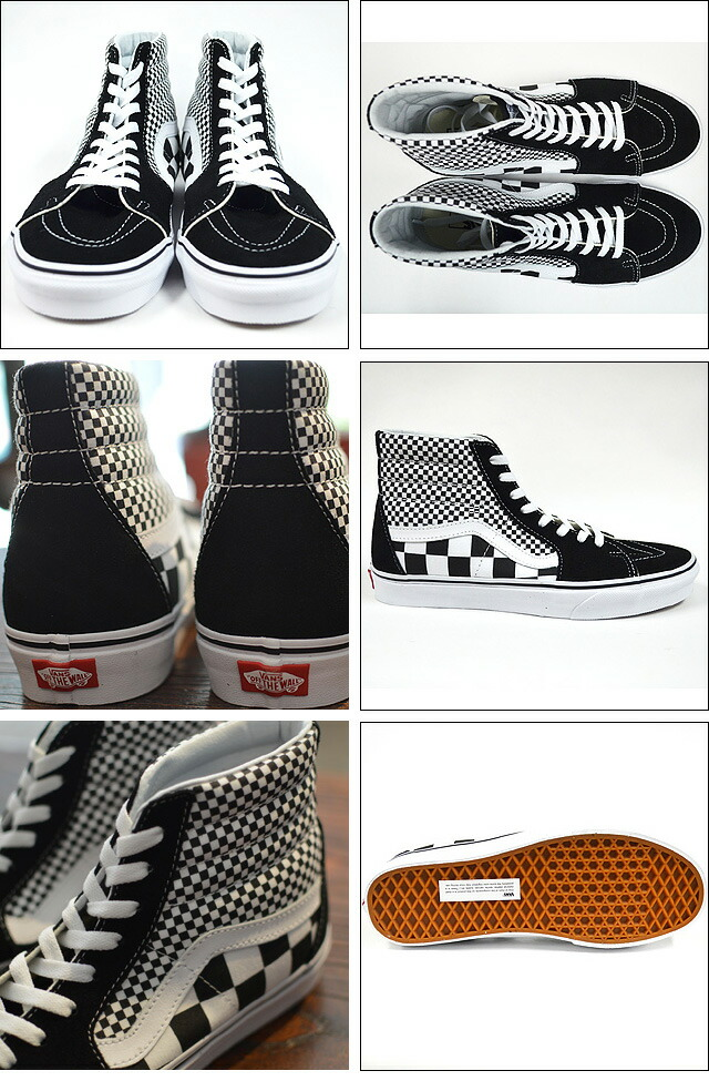 SK8-HI(Mix Checker) Lifestyle Black/TRUE WHITE Black/TRUE WHITE