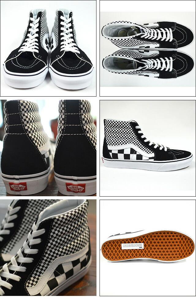 SK8-HI(Mix Checker) Lifestyle Black/TRUE WHITE Black/TRUE WHITE