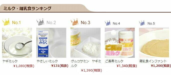 ミルク・離乳食ランキング