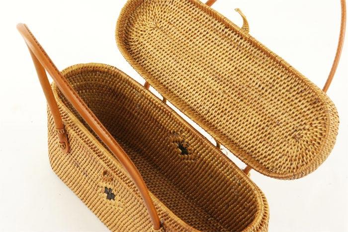 アタ かごバッグ リゾートバッグ ゆかたバッグ かばん バスケット バリ アジアン雑貨