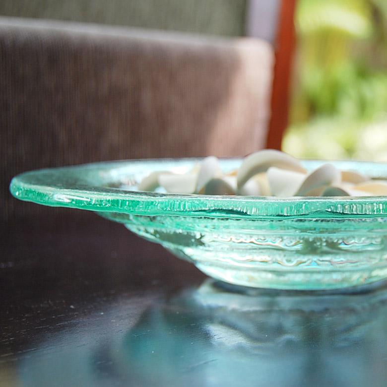 ガラスの二穴スクエア アジアン トレイ アジアン  アジアン雑貨