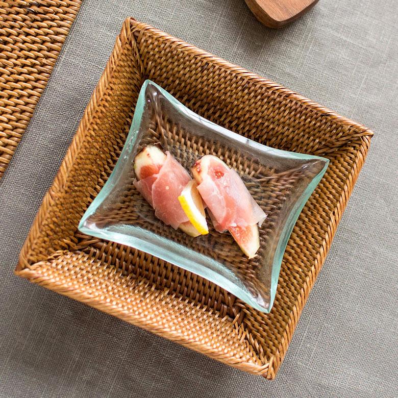 食器としても使えるガラストレイ  アジアン アジアン雑貨