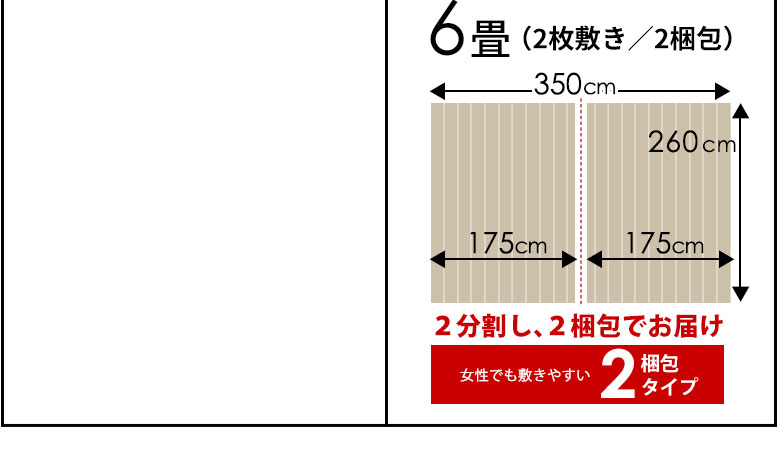 江戸間6畳 2枚敷き 2梱包