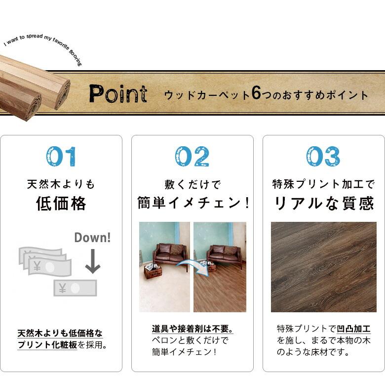 ウッドカーペット6つのおすすめポイント