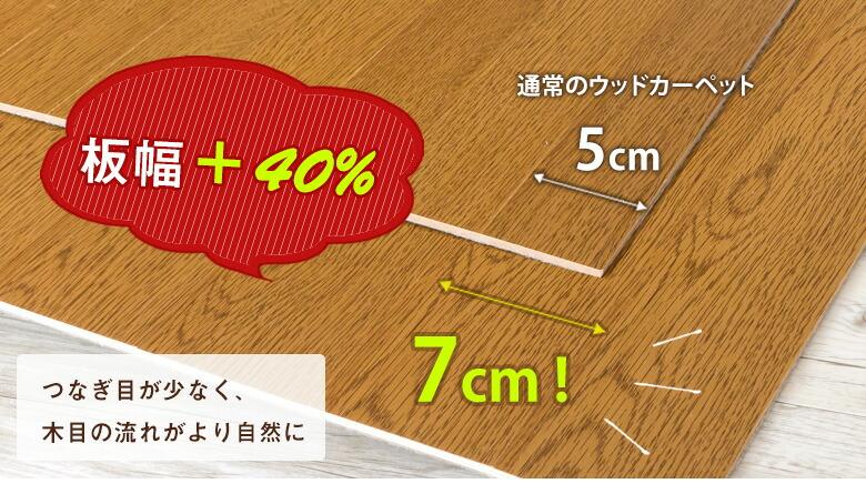 板幅7cmのウッドカーペット