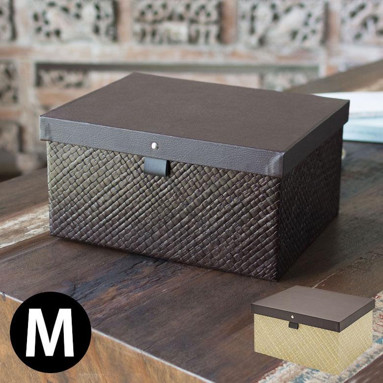 パンダン製蓋付きボックス