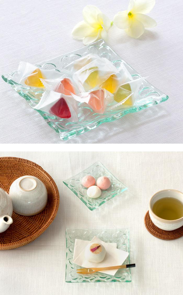 食器 プレート ガラス アジアンダイニング リゾート プルメリア