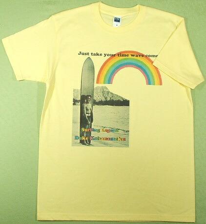 サーフィンレジェンド デュークカハナモクのTシャツ 君の波が来る! ハワイ