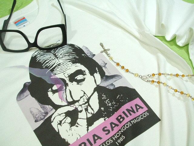 マリファナTシャツ★大麻、ガンジャ、葉っぱ系Tシャツ、マリア・サビーナのTシャツ