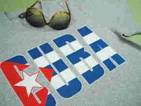 カストロTシャツ、CUBA国旗Tシャツ、キューバTシャツ、サルサ、ハバナクラブ、クラシックカー