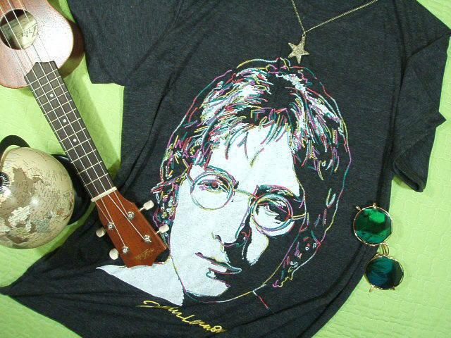 ジョンレノンのTシャツ ビートルズTシャツ 元ビートルズ ジョンのTシャツ