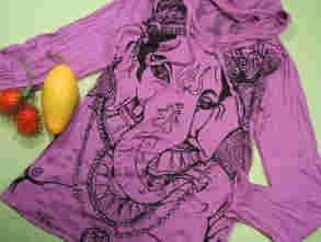 インドの神様女神様Tシャツ、ガネーシャTシャツ、サドゥTシャツ、ヨガ、行者、聖者Tシャツ