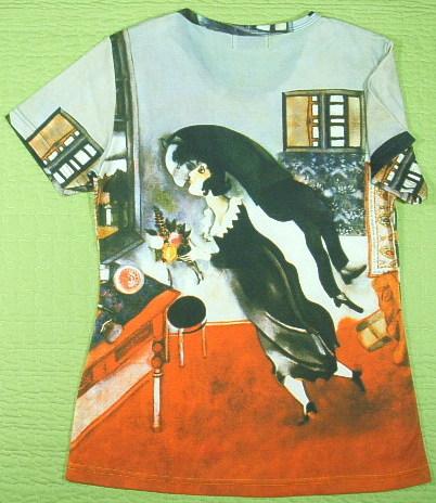 シャガールのTシャツ 画家のTシャツ 絵画Tシャツ 美術Tシャツ アーティストのTシャツ