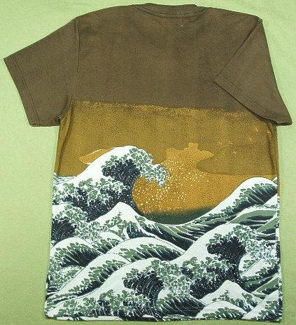 浮世絵Tシャツ、和柄Tシャツ、大波Tシャツ
