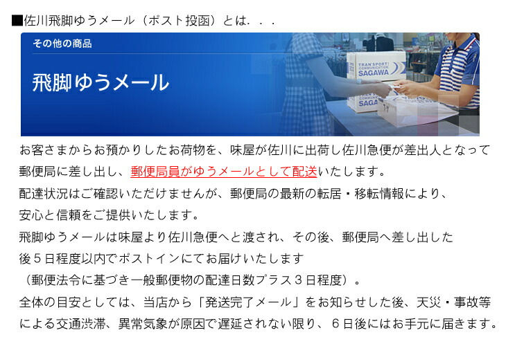 佐川飛脚ゆうメール