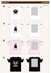 くまモンのTシャツ+1ヶ所2色名入れ