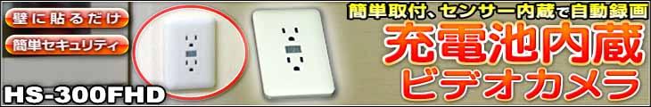 HS-300FHD【サンメカトロニクス製フルHD録画バッテリー交換対応ビデオカメラ】