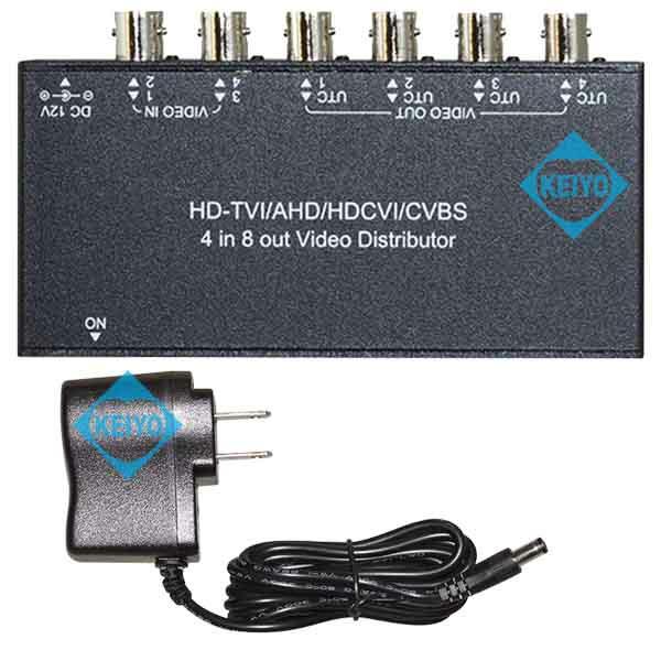 GVD-768【マルチフォーマット対応映像信号4入力8分配器】