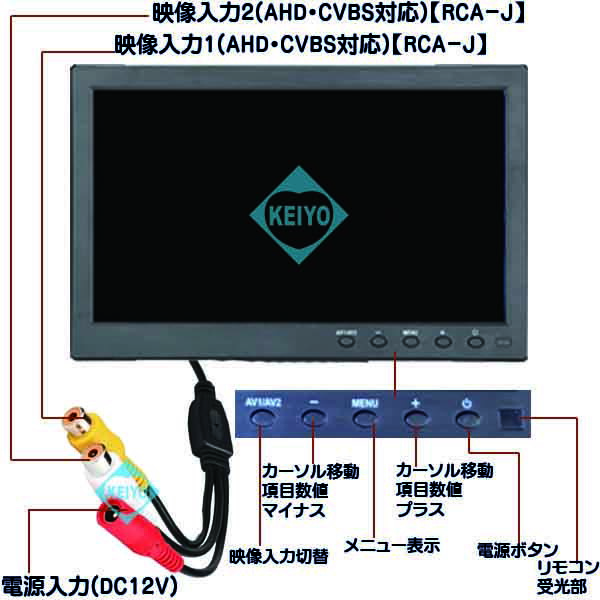 ASM-MNT101AHD【AHD・CVBS入力対応10.1インチIPS液晶モニター】