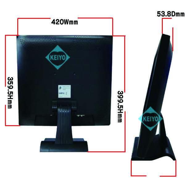 ML-1964TFT【HDMI/VGA/BNC入力搭載19インチ監視カメラ用液晶モニター】